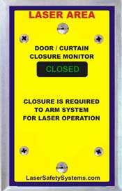 Laser room door monitor