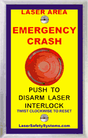 laser relay emergency stop
